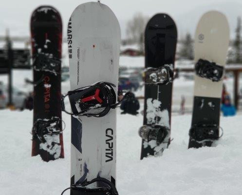 The snowboards