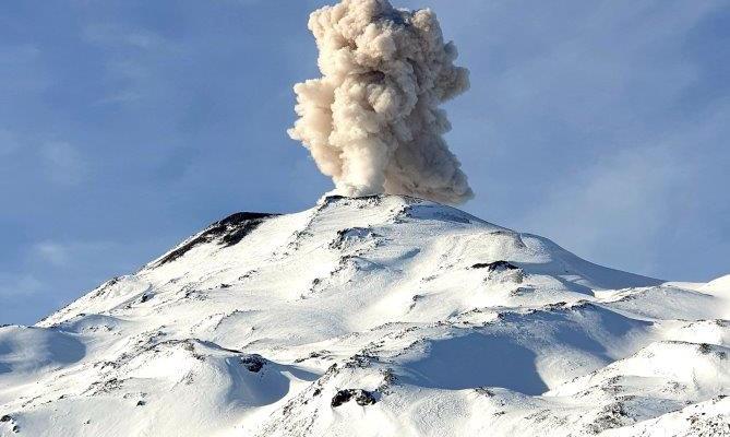 Smoky volcano