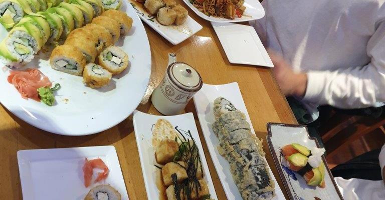 Sushi in Santiago
