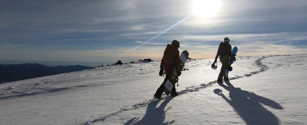 TJ and Kevin hiking Nevados de Chillan