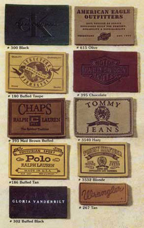 Leather and PVC Labels for Branding