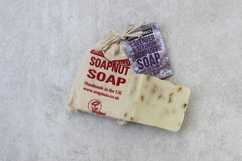 Lavender & Geranium Soapnut Soap