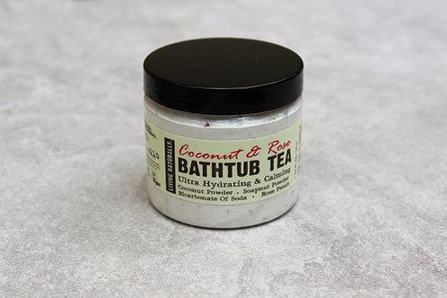 Living Naturally - Coconut, Soapnut and Rose Bathtub Tea