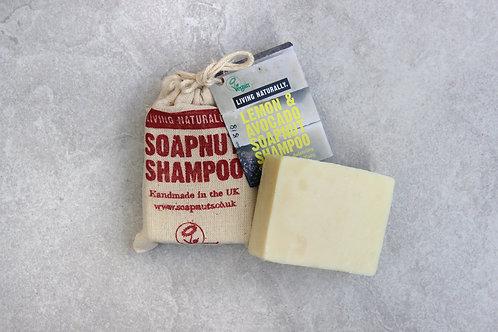 Lemon and Avocado Soapnut Shampoo