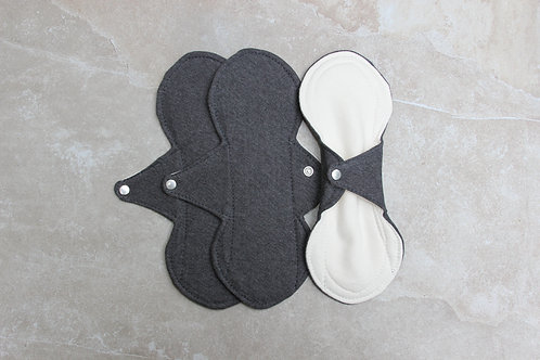 Set of 3 Charcoal Flo Pads