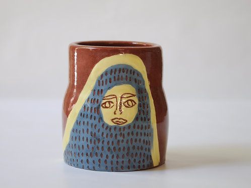 Small hand-painted vase