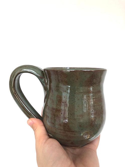 Green Shino mug