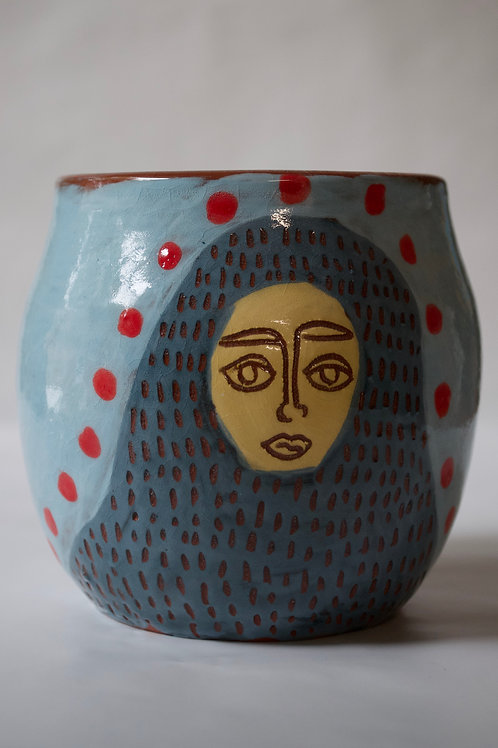 Hand-painted vessel
