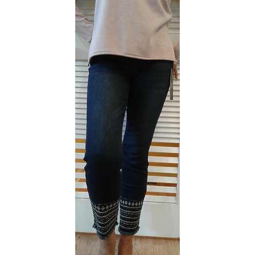 Jean  With Bead Embellishments