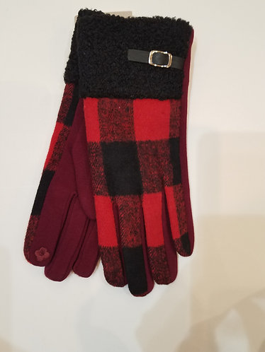 Red Buffalo Plaid Gloves