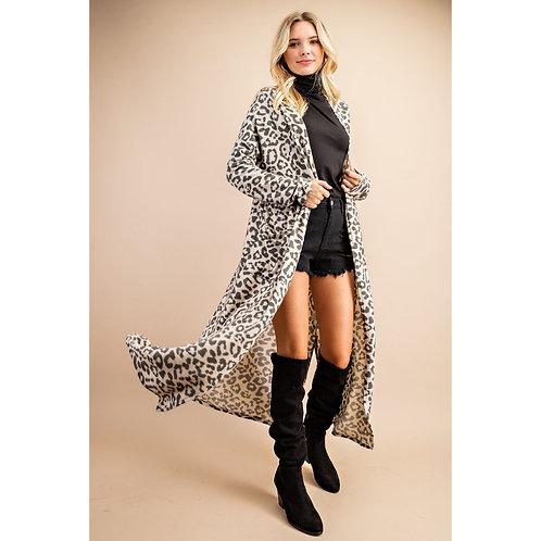 Soft Leopard Print Duster