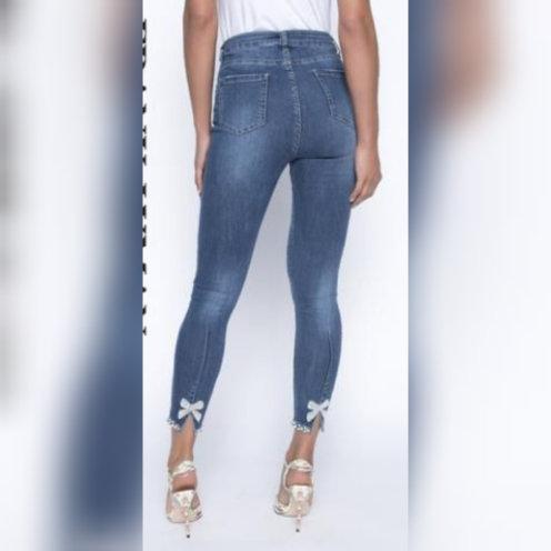 Bow Embellished Jean