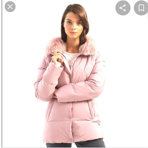 Puffer Coat With Removable Collar
