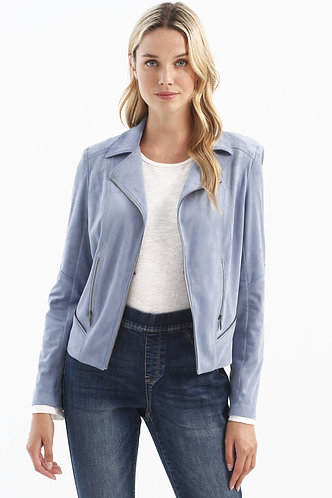 Light Weight Faux Suede Jacket