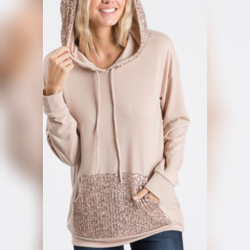 Soft Hoodie With Sparkle Detailing