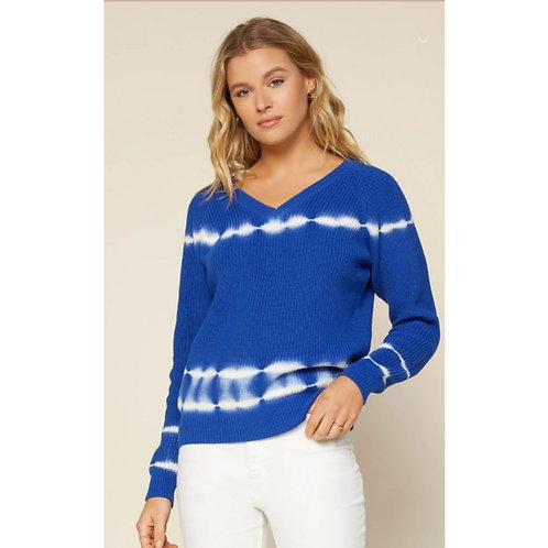 V Neck Tye Dye Sweater
