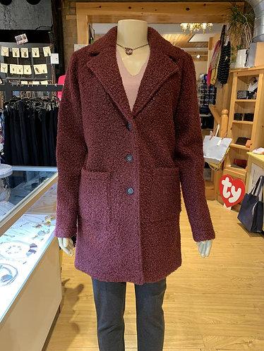 Boucle Knit Coat