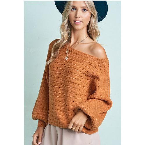 Soft Boat Neck Sweater