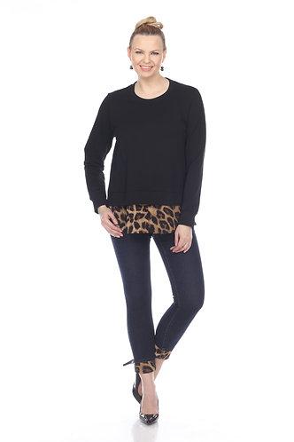 Jean With Leopard Print Cuff Detail
