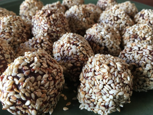 Truffles: The Toasted Sesame Seed Coated Ginger Almond Kind!