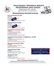 CCHS Bicentennial Golf Tournament Sponso