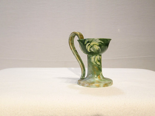 Antique Porcelain Chamberstick Candle Holder