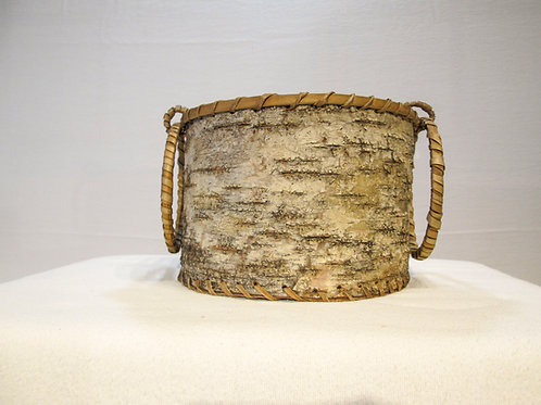 Bark Basket with Ring Handles