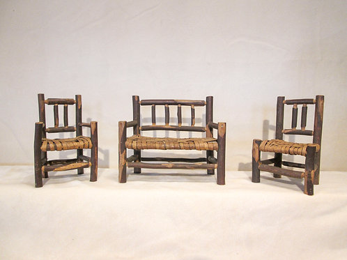 Miniature Old Hickory Style Adirondack Furniture