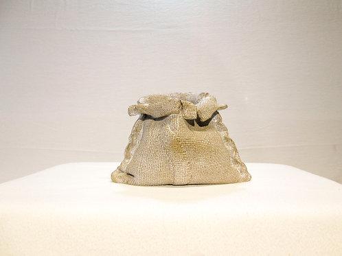 """Burlap Sack"" Art Pottery Vase"