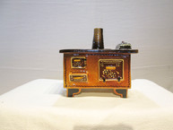 Whimsically Glazed French Pottery Cook Stove