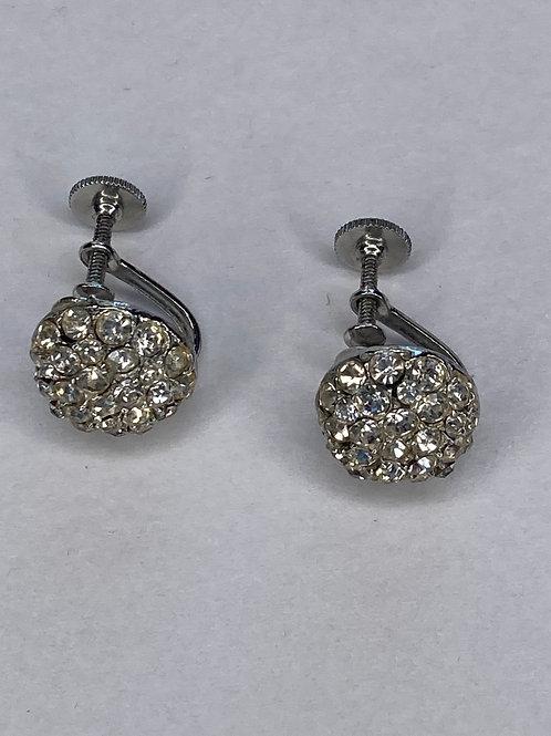 Vintage rhinestone twist earrings
