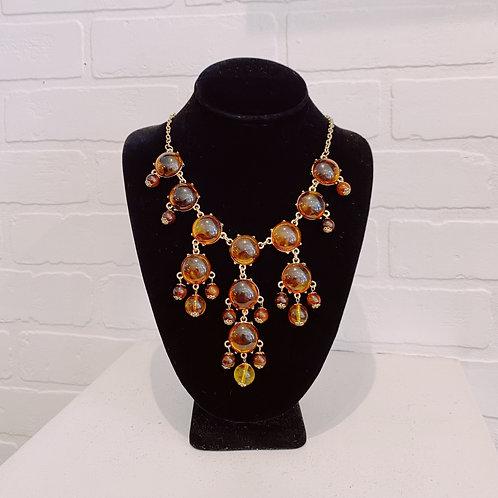 Faux Amber Vintage Necklace