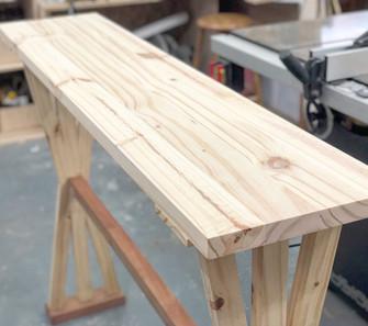 Custom pine table for plants