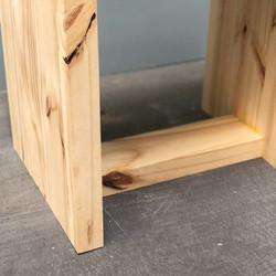 Stool, solid pine