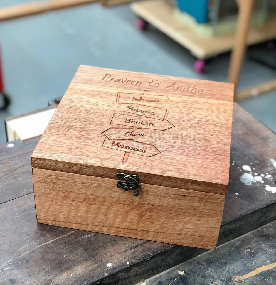Custom box for memorabilia