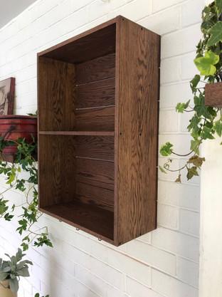 Mounted shelves, solid oak