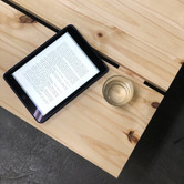 Double-bench coffee table, solid pine
