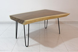 Suar coffee table with hairpin legs