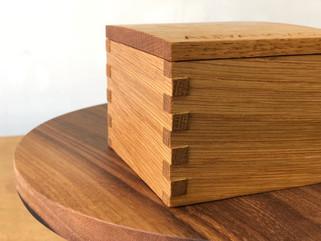 Personalised keepsake box, solid white oak