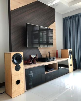 Custom speakers, birch ply