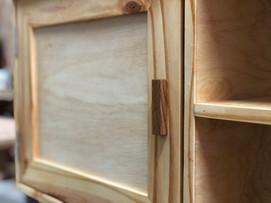 Custom TV console, pine and birch ply