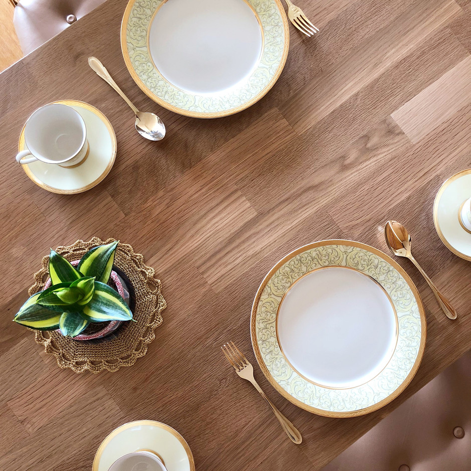 Custom oak dining table top