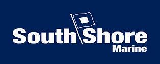 South Shore Marine Logo - White on Navy.