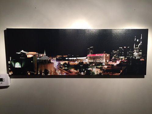 Nashville at Night | 16x48 | Gallery Canvas Print