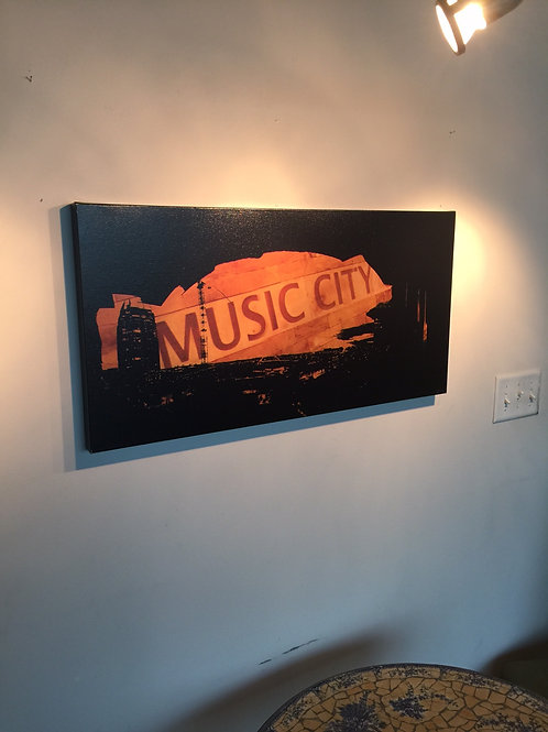 Music City East | 16x32 | Gallery Canvas Print