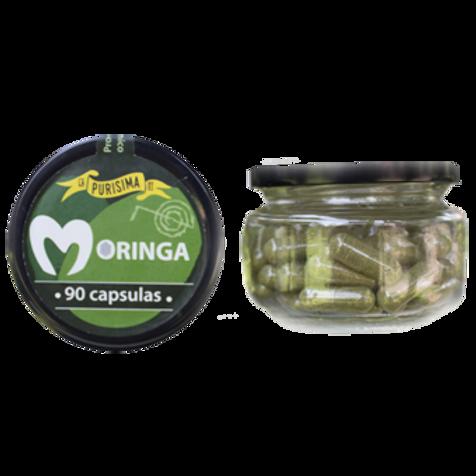 Moringa Orgánica en polvo 90 Cápsulas La Purísima