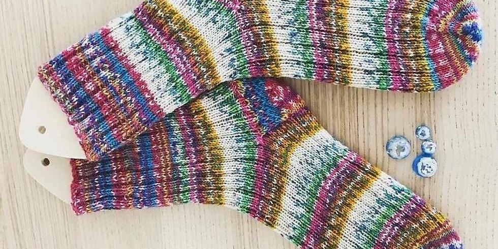 【4月のママ部】手編み靴下編んでみたい人集まれ〜(第1回つま先編)