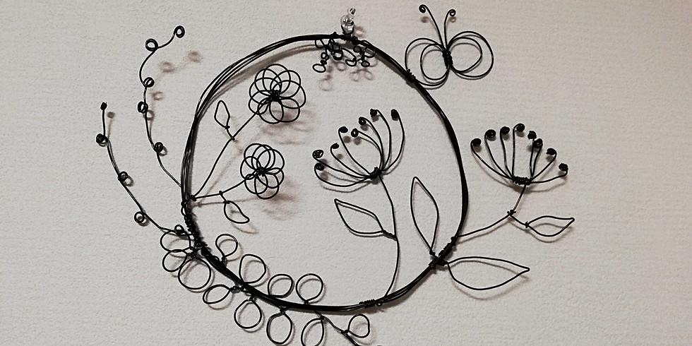【4月のママ部】お花のワイヤーリースを作ろう!
