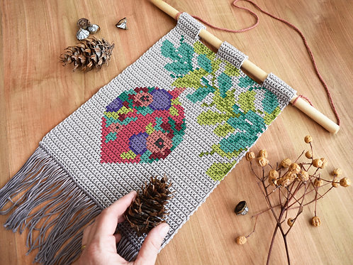 Under the Trees tapestry / Tapestry crochet PDF instant download
