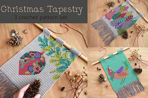 Christmas tapestry / Tapestry crochet PDF instant download